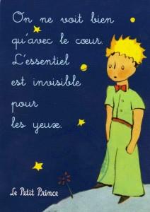 Petit Prince on ne voit bien qu avec le coeur