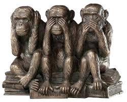 confidentialité les trois singes