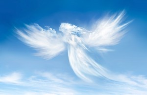 message ciel ange nuage