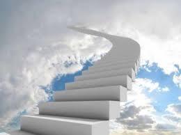 message ciel escalier
