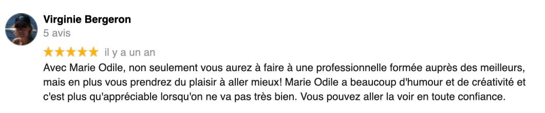 Marie-Odile Pirus avis